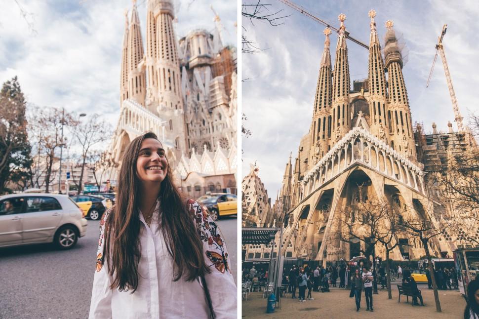 Filipa na Sagrada Família, Barcelona
