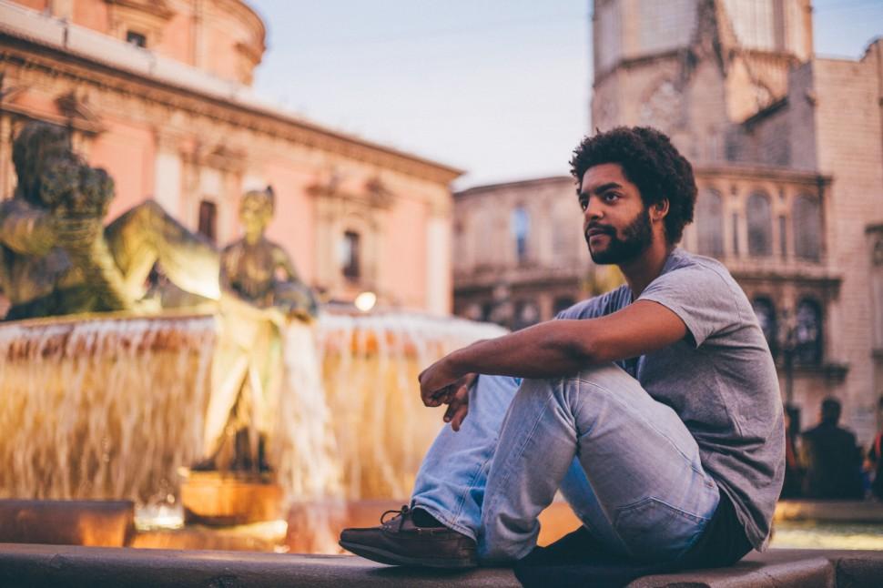 Guilherme na Praça da Catedral, Valência