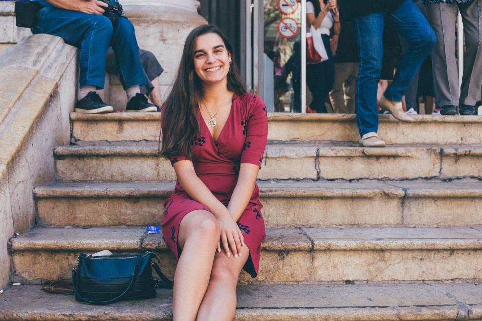 Filipa no mercado de Valência