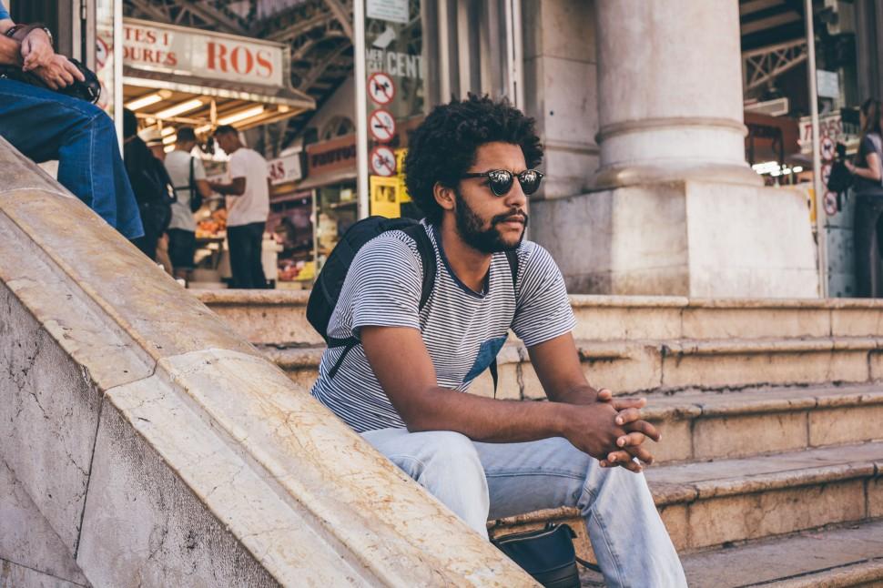 Guilherme no mercado de Valência