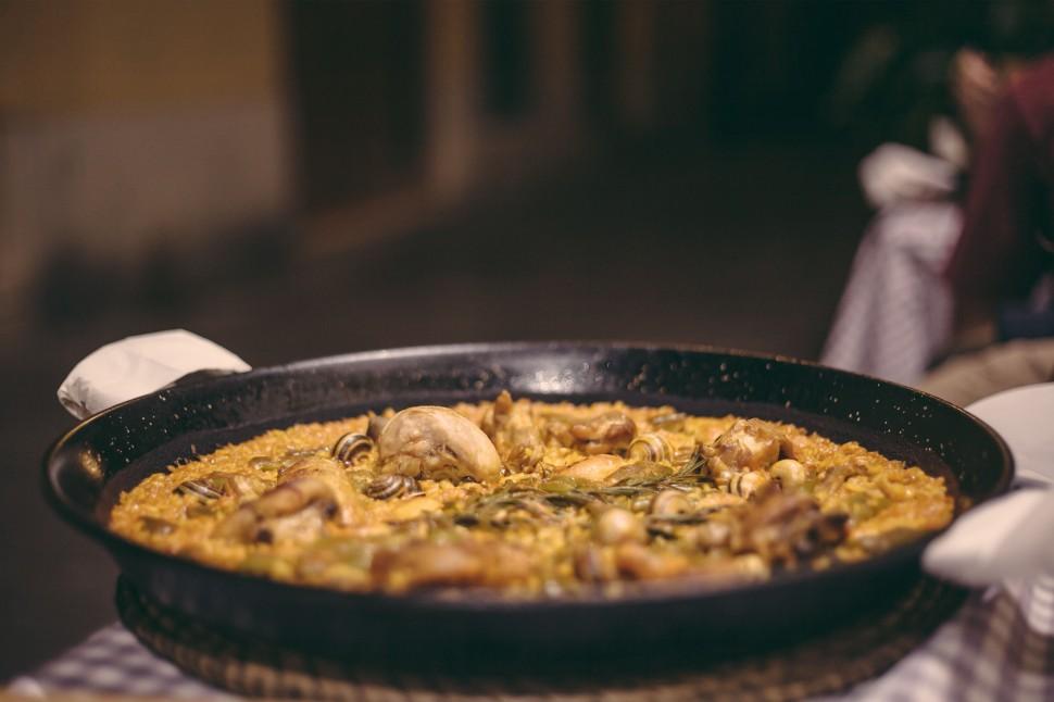 Prato de paella em Valência